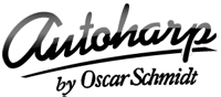 Oscar Schmidt's Autoharp logo, the only thing about the instrument or its name that Oscar Schmidt still controls.
