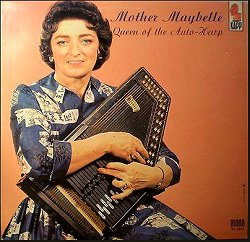 Mother Maybelle Carter and her Oscar Schmidt autoharp.  Click for bigger photo.